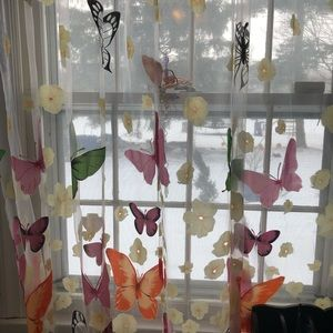Other - New butterfly curtains girls